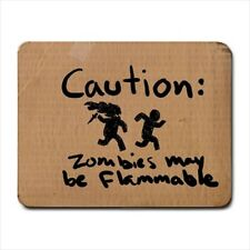 Warning Flammable Zombie Small Mousepad