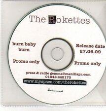 (CQ432) The Rokettes, Burn Baby Burn - 2009 DJ CD