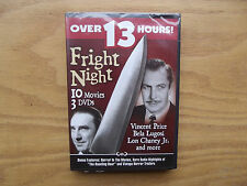 Fright Night - 3-Pack (DVD, 2004, 3-Disc Set) 13 Hours Of Classic Horror