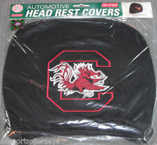 NCAA NWT HEAD REST COVERS -SET OF 2- SOUTH CAROLINA - RED OUTLINE