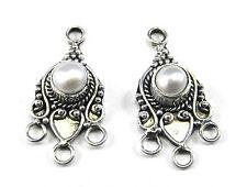 CH19 - Bali .925 Sterling Silver Pearl Chandelier Findings - 2 - BEAUTIFUL!