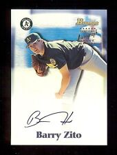 BARRY ZITO 2000 Bowman Certified AUTOGRAPH