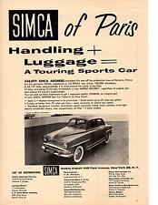 1957-1958 SIMCA ARONDE  ~  CLASSIC ORIGINAL PRINT AD