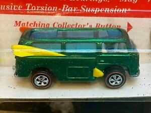 Hot Wheels Redline Beach Bomb Green Unpunched Blister Adult Collectors Toy Car
