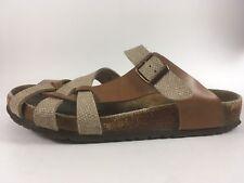 Birkenstock Papillio Pisa Sandals Comfort Shoes Size 42 Women's 11 Brown Leather
