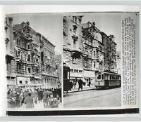 BUDAPEST Rakoczy Street Rebuilds After Hungary Revolution, Vtg. 1957 Press Photo