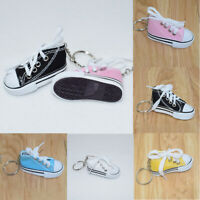 5pcs Mini Canvas Sneaker Shoes Keychains Keyring Jewelry  Handbag Decor Key Ring