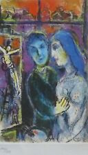MARC CHAGALL COUPLE AT THE WINDOW 1985 SIGNED HAND NUMBERED 144/333 ETCHING