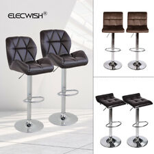 Bistro Pub Bar Stools Swivel Counter Chair Velvet Leather Footrest Set Of 2 Or 4