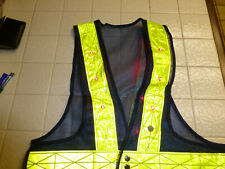 Two Red Led Lighted Reflective Mesh Safety Vests for Night Visibility