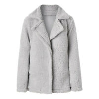 Womens Winter Padded Jackets Ladies Lamb Wool Winter Mid-Length Warm Jackets