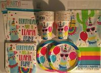 LLAMA Party Birthday Party Supply Set Pack Decoration Kit w/ Loot Bags