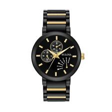Bulova Futuro 98C124 Two Tone Black PVD Gold Stainless Steel Quartz Men's Watch