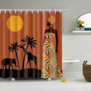 Decorative Custom Bath Curtain Shower Curtain Home Decor DIY African Woman