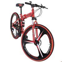 Folding/Full Suspension Mountain Bike Shimano 21 Speed Men's Bikes Bicycle MTB