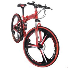 Folding/Full Suspension Mountain Bike Shimano 21 Speed Men's Bikes Bicycle MTB