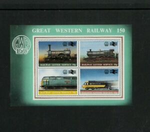 Australia Local GWR Trains Souvenir Sheet. Cat.50.00 (5.00 x 10)
