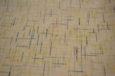 Japanese Woollen Fabric Off White with Multicoloured Crisscross Pattern 1327