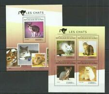 [G] GUINEA 2014 CATS, DOMESTIC PETS,  SHEET OF 4 STAMPS.