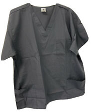 Strictly Scrubs 2 Piece Unisex Gray Pant And Top Scrub Set Size Xl