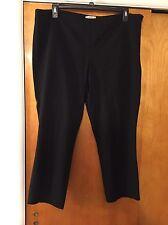 Women's 18w Ny & Company Stretch Black work dress capri pants lightly used