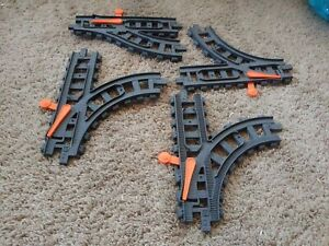 2015 Ez Toy Train Mattel Switch track 4 lot Preowned Good Condition