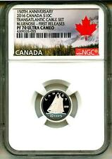 2016 S10c Canada 150th Ann. Transatlantic Cable Set Bluenose FR NGC PF70 UC