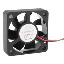 12V 50mm x 10mm 2 Pin CPU Brushless Cooling Fan PC Cooler Heat Sink Black RPM SC