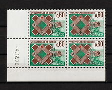 (YYAY 655) Monaco 1976 MNH Mich 1220 Scott 1018 Bridge Olympiad playing cards