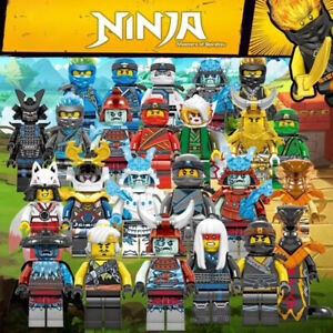 24 Stück Ninjago Minifiguren Kai Jay Sensei Wu Meister Lego Bausteine Spielzeug
