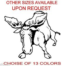 Moose Funny Graphic Vinyl Decal Sticker Car, Laptop, Bike, Bumper (ref FC15)