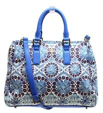NWT $395 Tory  Burch Coated Castillo Combo Robinson Printed Triangle Tote Bag