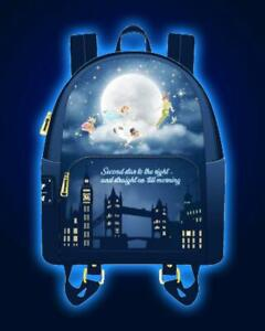 Loungefly Disney Peter Pan Second Star Glow In The Dark Mini Backpack