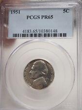 New listing 1951 Jefferson Nickel Pr65 Pcgs Proof 65 # 0148