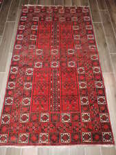 4x7ft. Semi Antique Handmade Afghan Sulamani Wool Rug