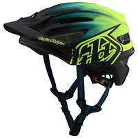 Troy Lee Designs 2020 A2 MTB Helmet MIPS Stain'd Navy/Yellow All Sizes