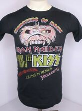 Vtg 1988 IRON MAIDEN Monsters of Rock KISS Tour Concert Donington Park T-Shirt M
