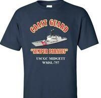 USCGC MIDGETT  WMSL-757 *COAST GUARD  VINYL PRINT SHIRT/SWEAT