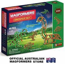 Genuine MAGFORMERS DINOSAUR Set 65 pcs - 3D Magnetic building construction
