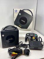 Nintendo GameCube Black Console Complete In Box CIB w/ Controller DOL-001