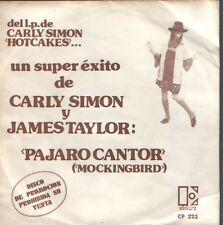 "CARLY SIMON & JAMES TAYLOR 7""PS Spain 1974 Mockingbird PROMO"