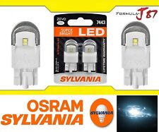 Sylvania ZEVO LED Light 7443 White 6000K Two Bulbs Brake Stop Tail Replacement
