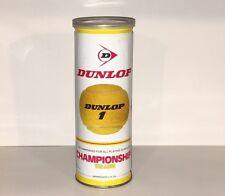 Vintage Dunlop Championship Yellow Tennis Balls Can - Still Sealed