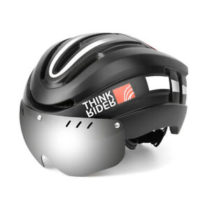 Bicycle Helmet LED Light Rechargeable Integrally Molded Safe Cycling for Man