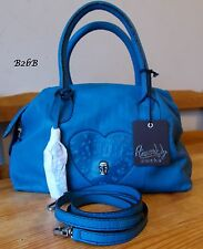 Amused by Ameko turquoise blue green leather shoulder messenger skull love bag
