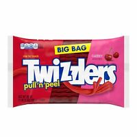 TWIZZLERS PULL & PEEL CHERRY FLAVORED CHEWY CANDY 28oz - PACK OF 2
