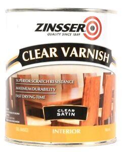 Zinsser 32 Oz 331404 Satin Clear Varnish Interior Superior Scratch Resistance