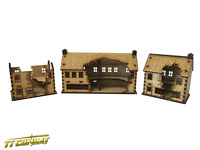 TTCombat (WAR008) Ruined Shops Set, great for Flames of War