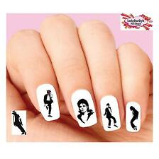 Waterslide Nail Decals Art Set of 20 - Michael Jackson Silhouette Assorted