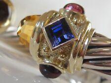 $3450 DAVID YURMAN 14K GOLD,SS CITRINE,  IOLITE , GARNET BRACELET